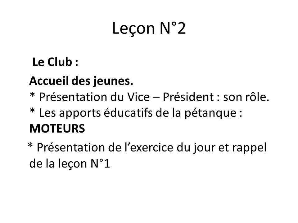 Leçon N°2
