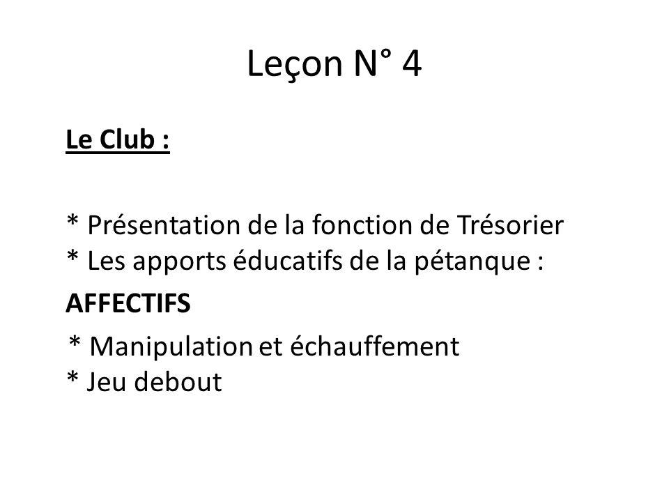 Leçon N° 4