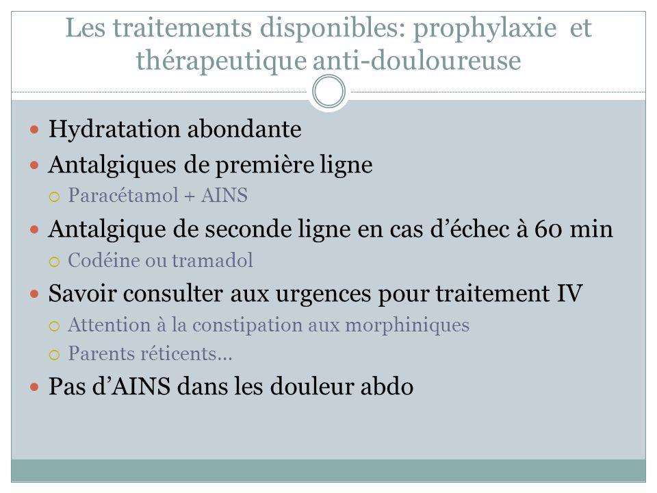 Les traitements disponibles: prophylaxie et thérapeutique anti-douloureuse