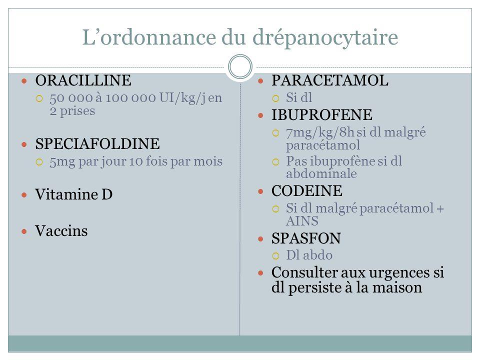 L'ordonnance du drépanocytaire
