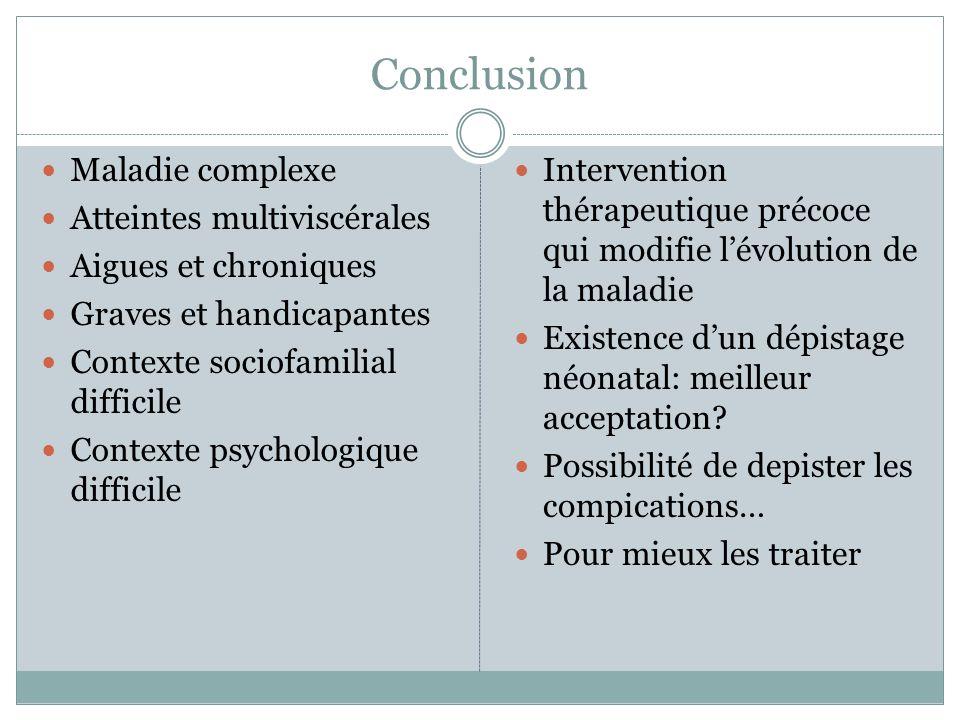 Conclusion Maladie complexe Atteintes multiviscérales