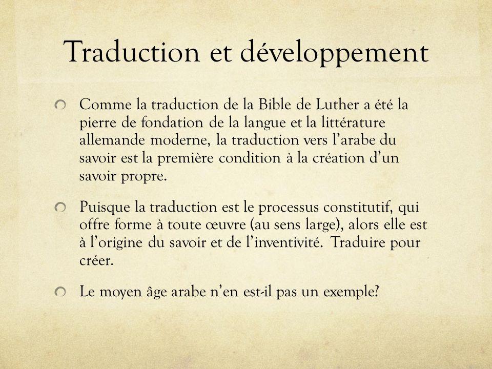 Traduction et développement