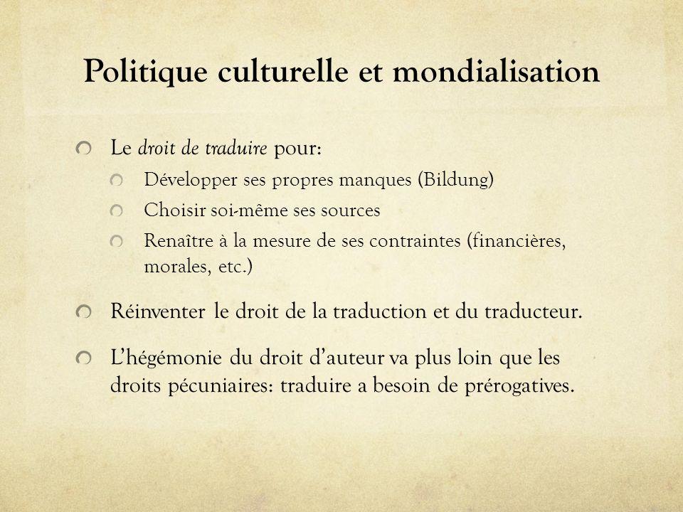 Politique culturelle et mondialisation