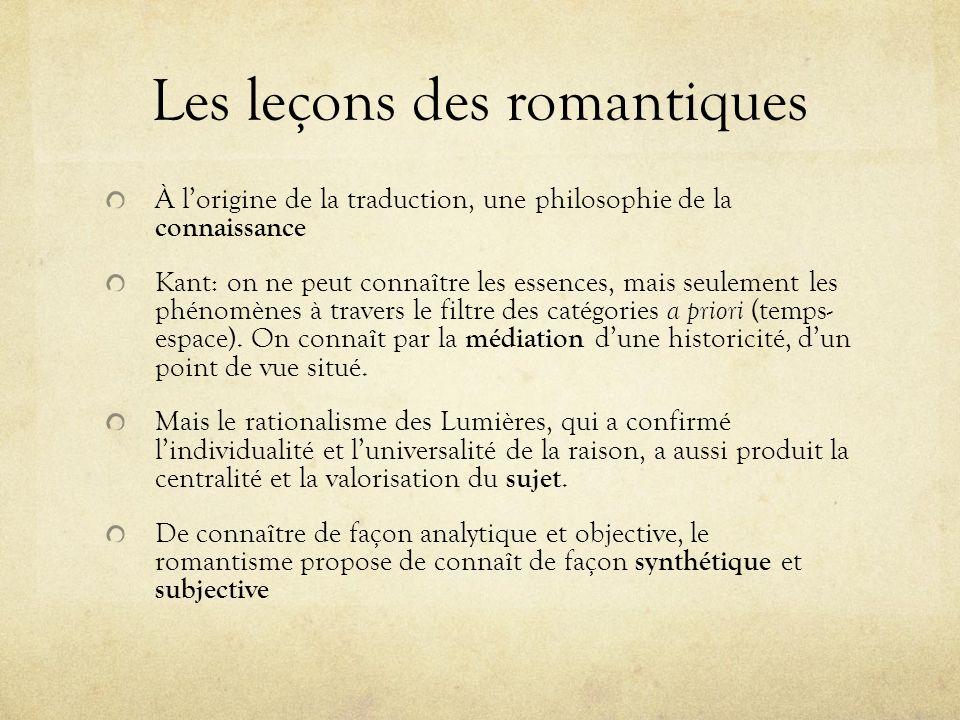 Les leçons des romantiques