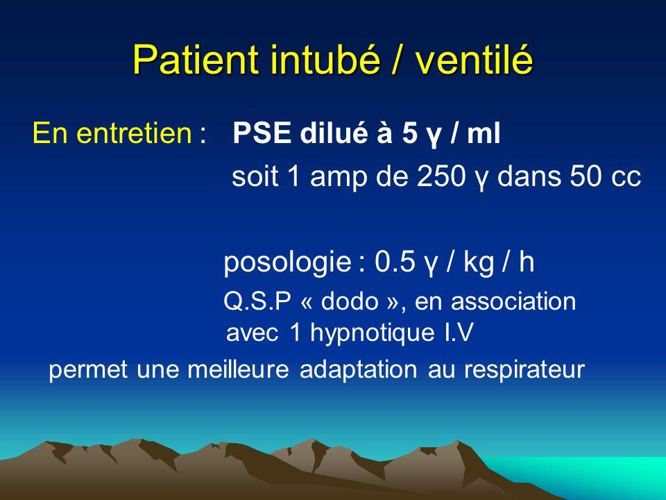 Patient intubé / ventilé