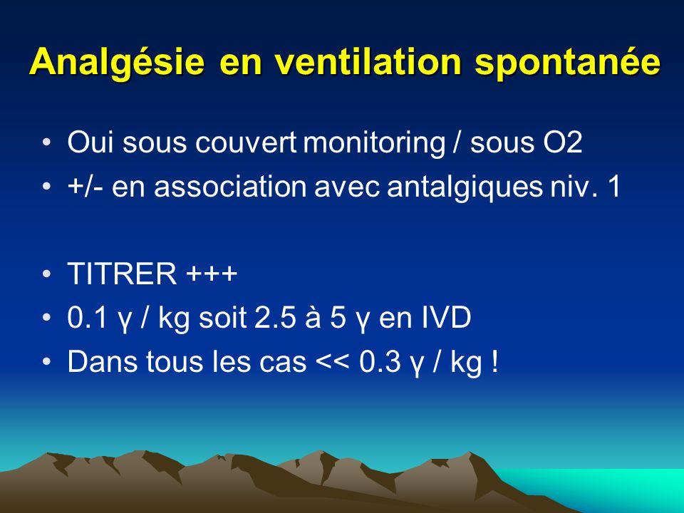 Analgésie en ventilation spontanée