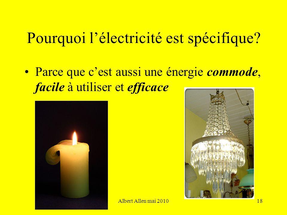 Pourquoi l'électricité est spécifique