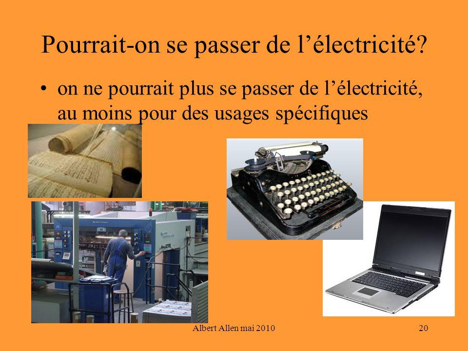 Pourrait-on se passer de l'électricité