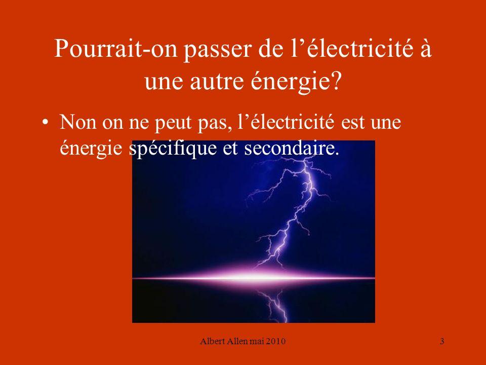 Pourrait-on passer de l'électricité à une autre énergie
