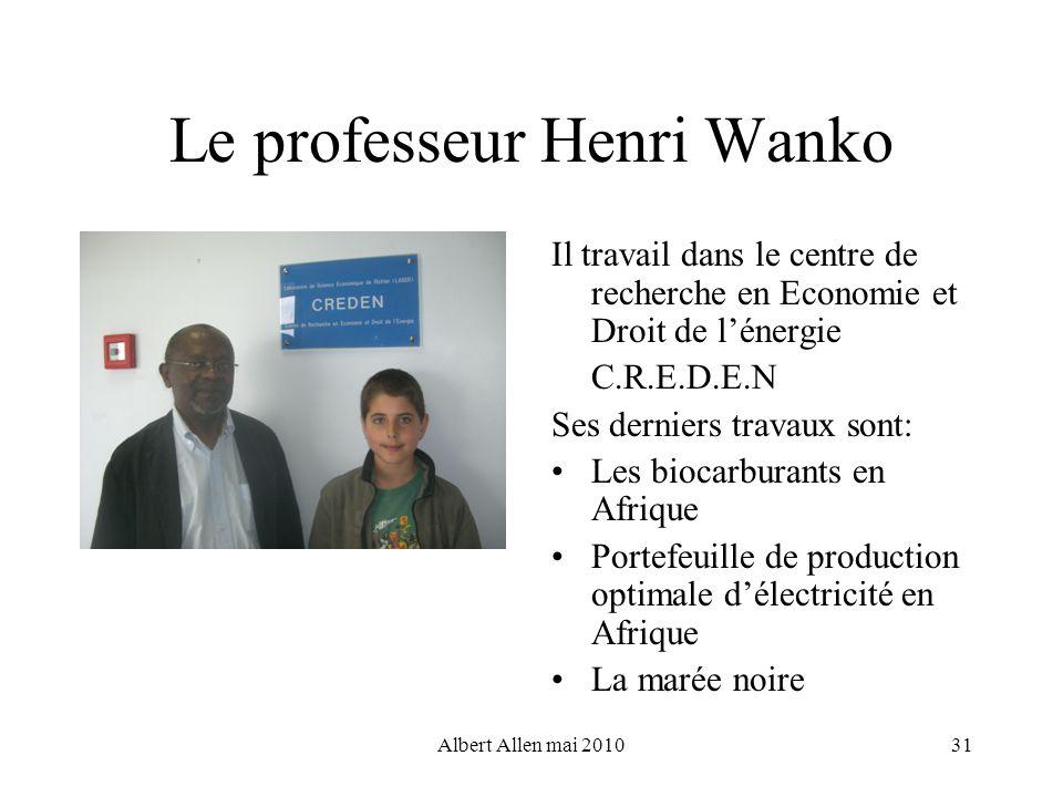 Le professeur Henri Wanko
