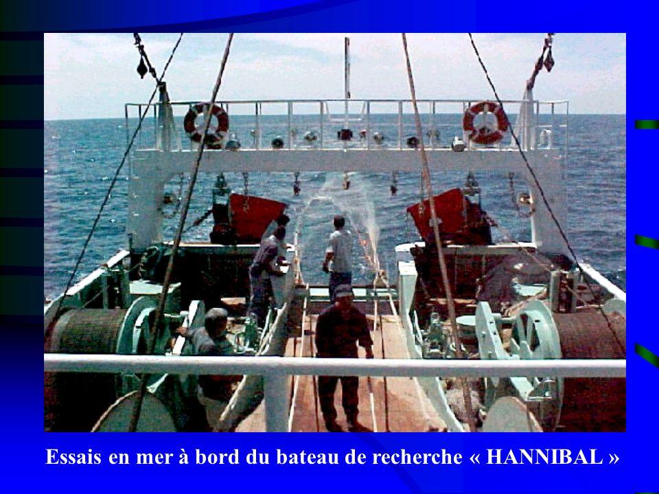 Essais en mer à bord du bateau de recherche « HANNIBAL »