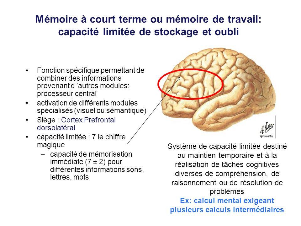 Ex: calcul mental exigeant plusieurs calculs intermédiaires
