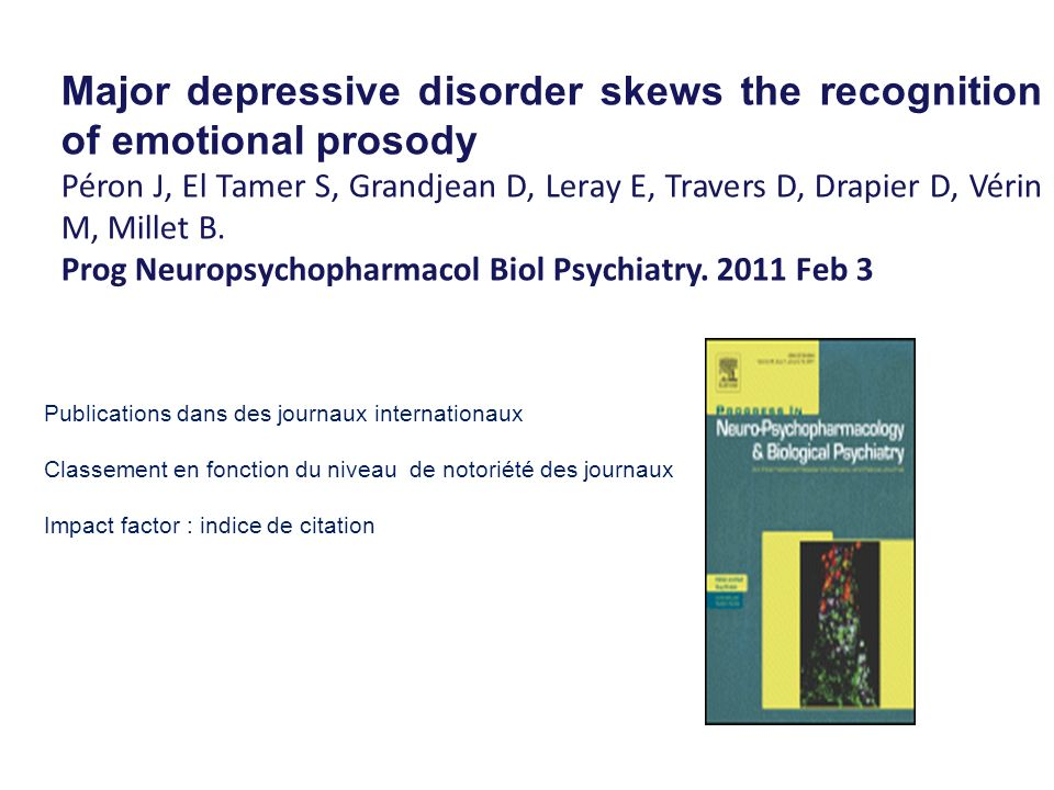 Major depressive disorder skews the recognition of emotional prosody