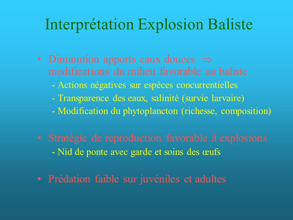 Interprétation Explosion Baliste