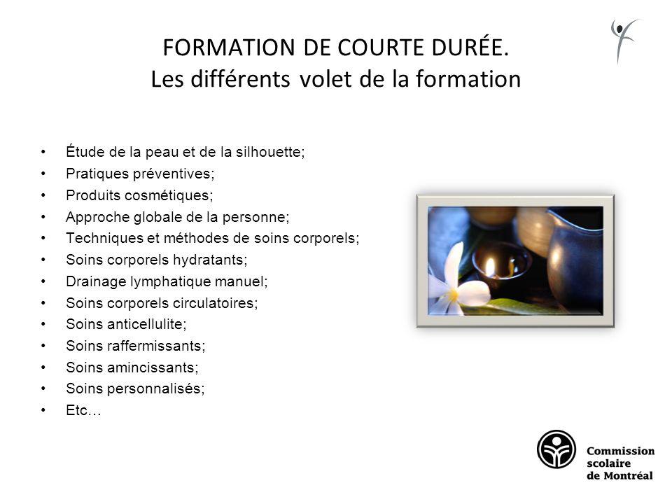 FORMATION DE COURTE DURÉE. Les différents volet de la formation