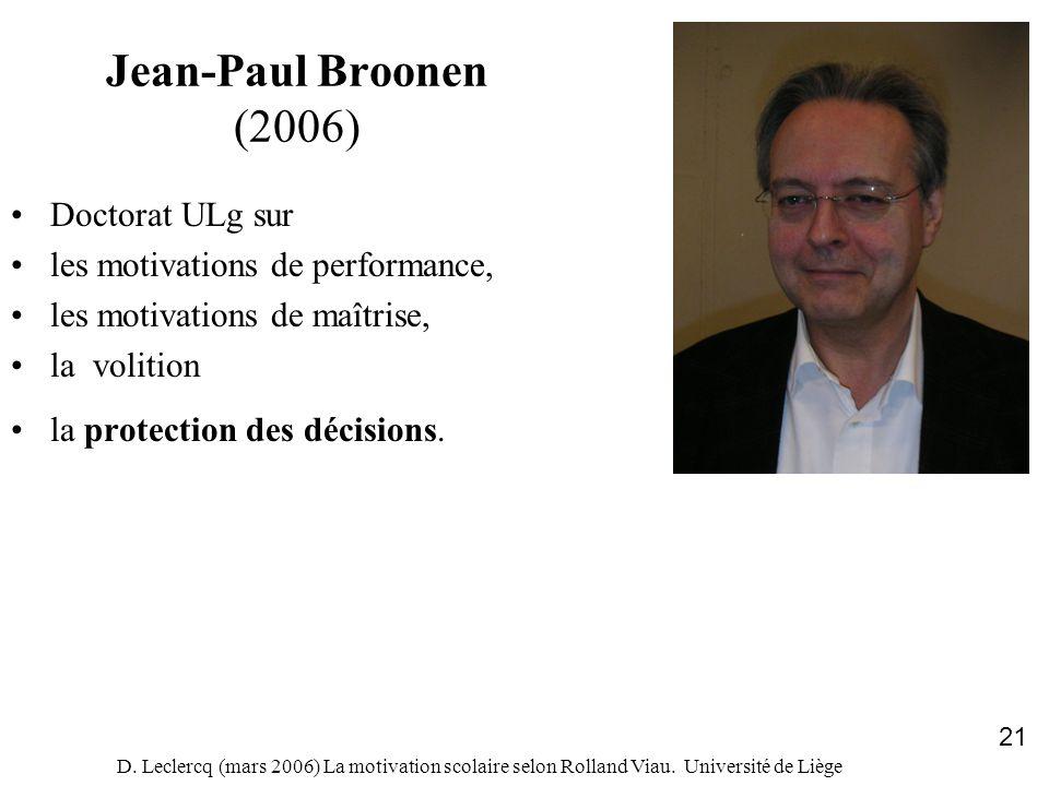 Jean-Paul Broonen (2006) Doctorat ULg sur