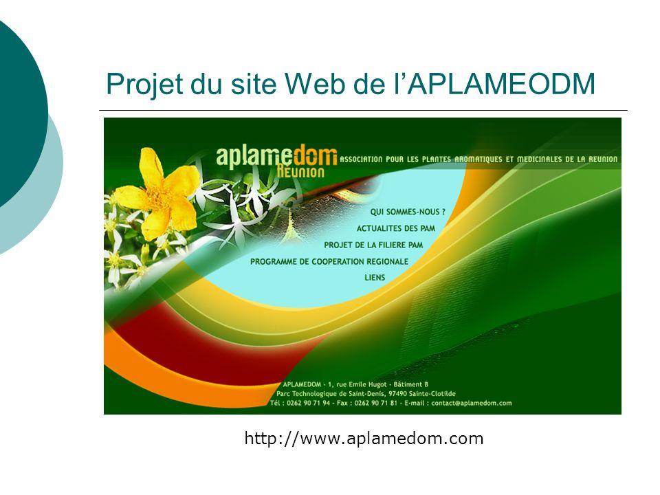 Projet du site Web de l'APLAMEODM