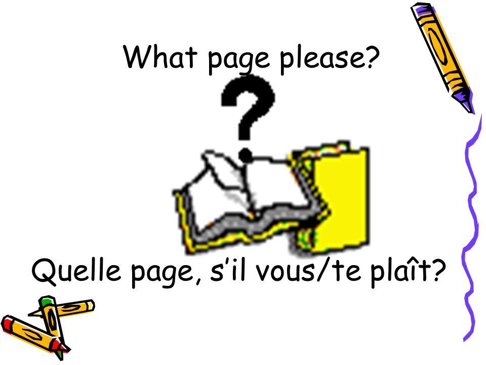 Quelle page, s'il vous/te plaît