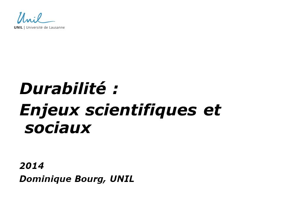 Enjeux scientifiques et sociaux