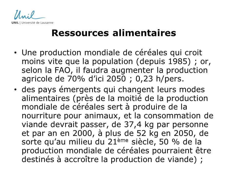 Ressources alimentaires
