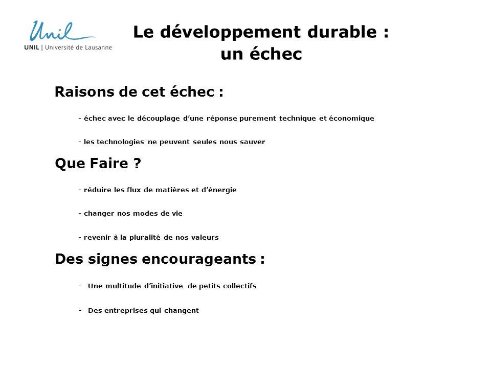 Le développement durable : un échec