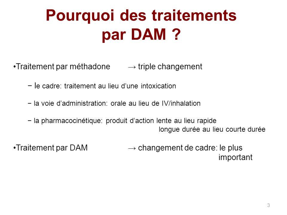 Pourquoi des traitements par DAM