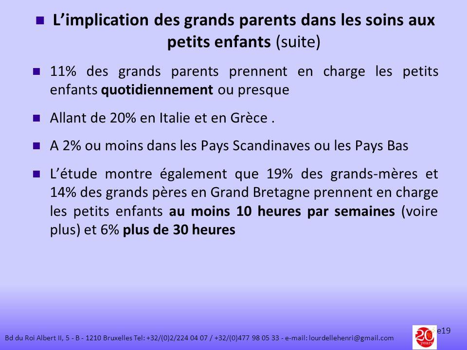 L'implication des grands parents dans les soins aux petits enfants (suite)