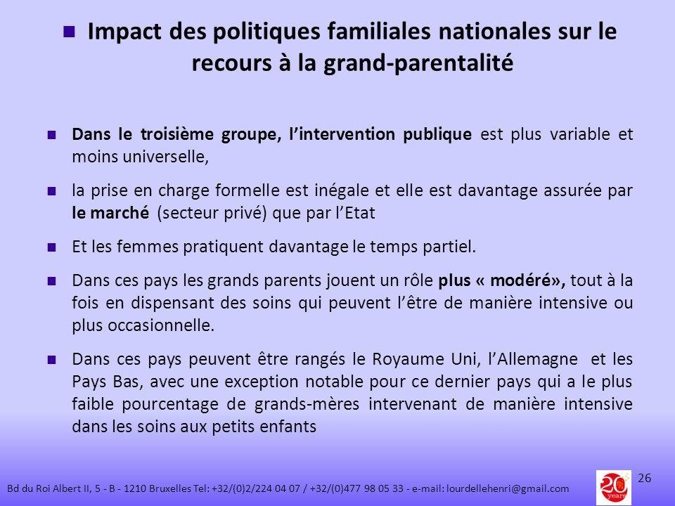 Impact des politiques familiales nationales sur le recours à la grand-parentalité