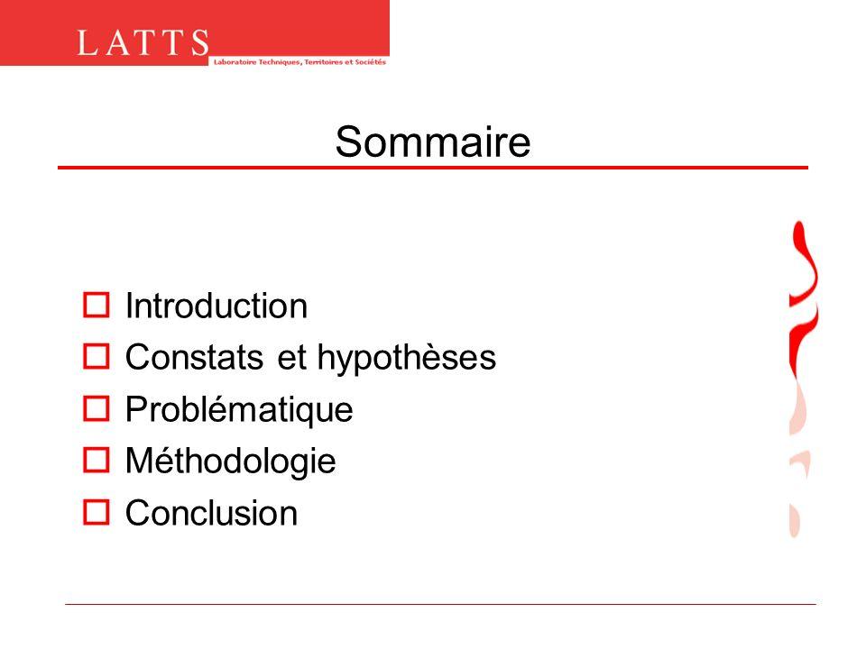 Sommaire Introduction Constats et hypothèses Problématique