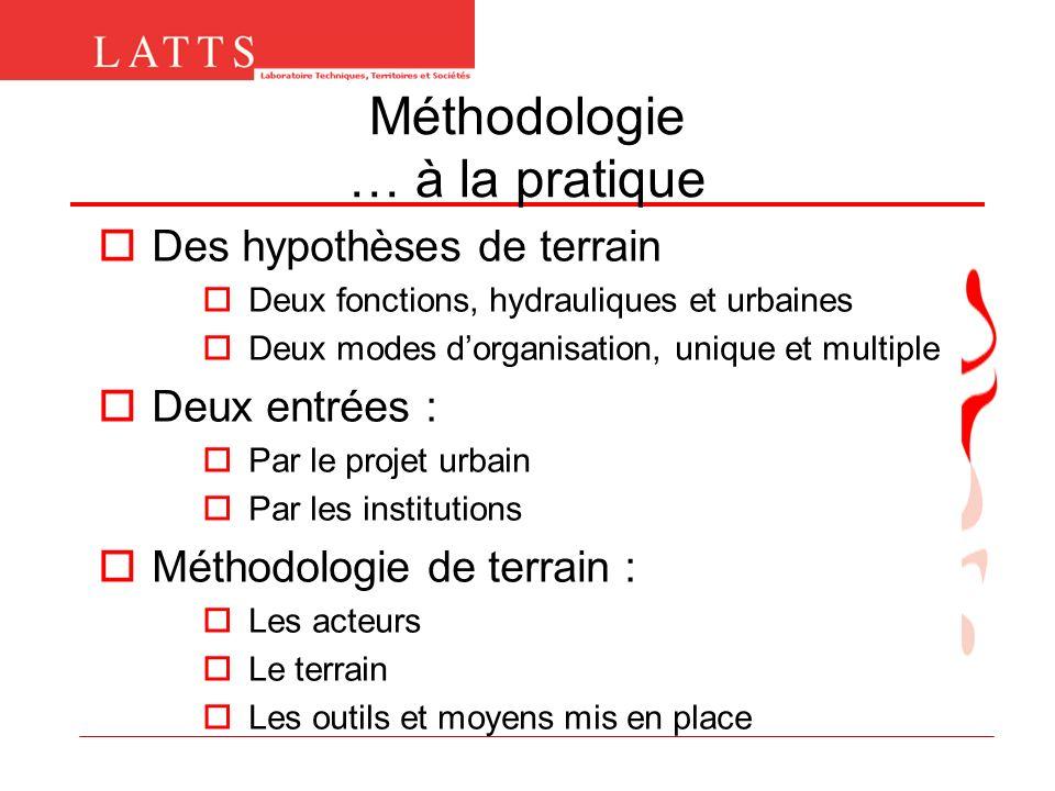 Méthodologie … à la pratique