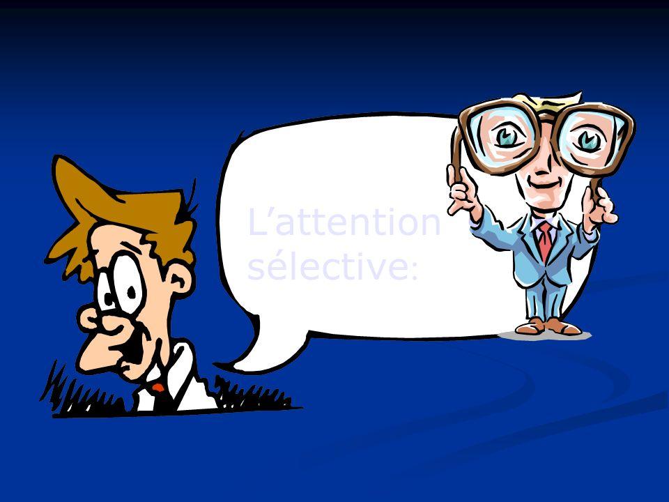 L'attention sélective:
