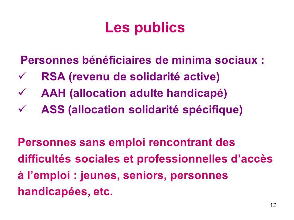 Les publics RSA (revenu de solidarité active)