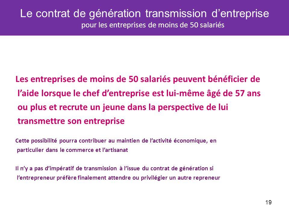 Le contrat de génération transmission d'entreprise pour les entreprises de moins de 50 salariés