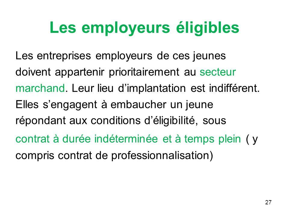 Les employeurs éligibles