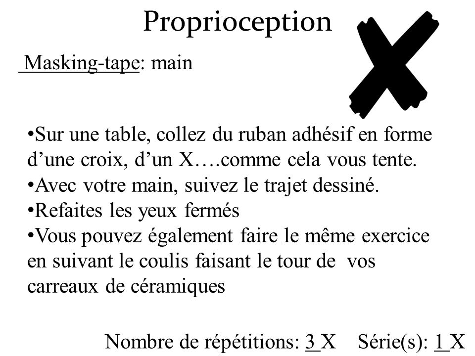 Proprioception Masking-tape: main