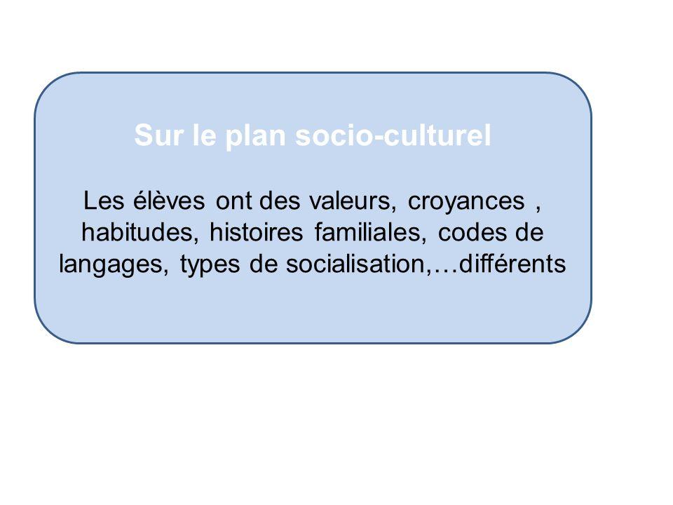 Sur le plan socio-culturel