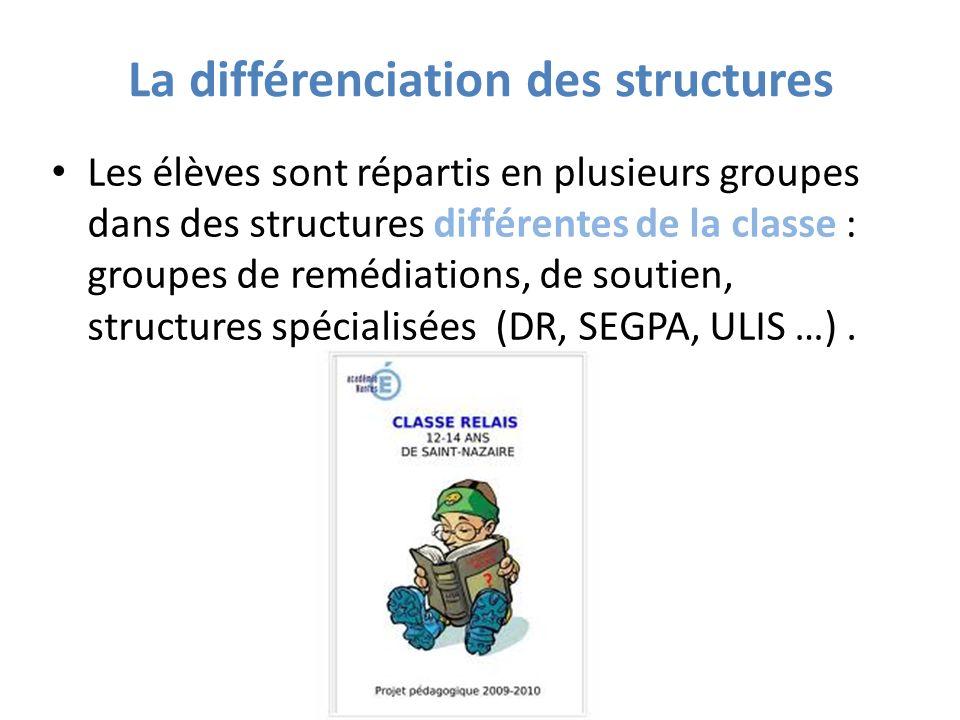 La différenciation des structures