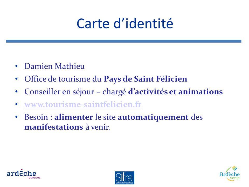 Carte d'identité Damien Mathieu