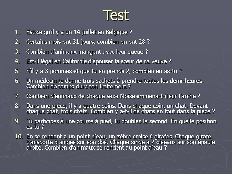 Test Est-ce qu'il y a un 14 juillet en Belgique