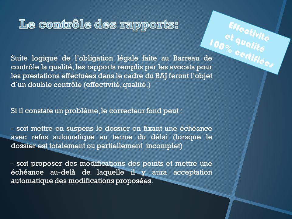 Le contrôle des rapports: