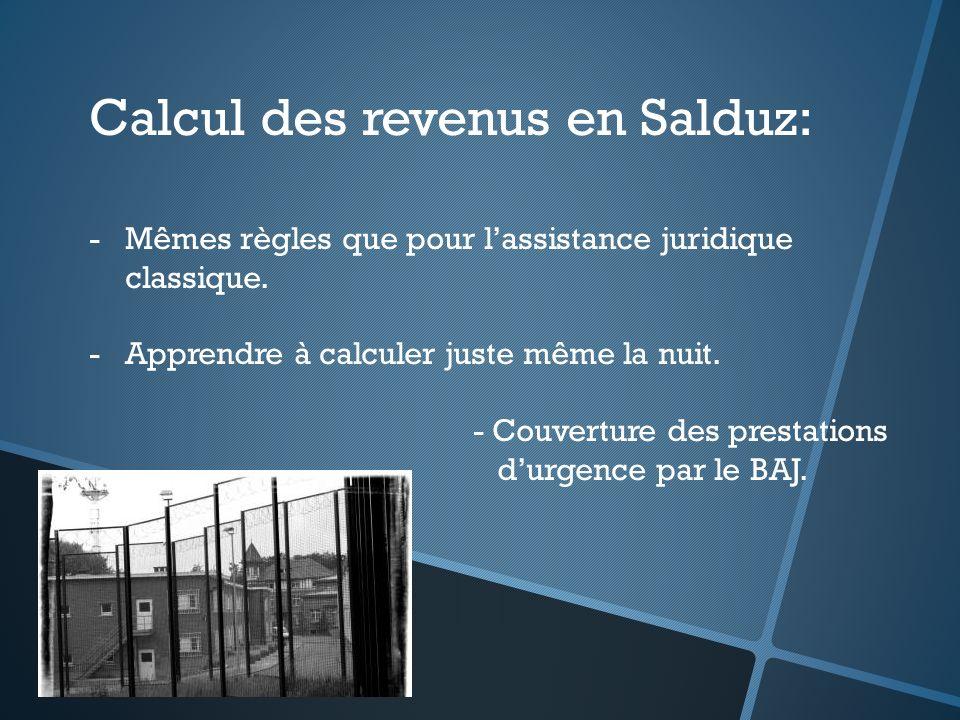 Calcul des revenus en Salduz:
