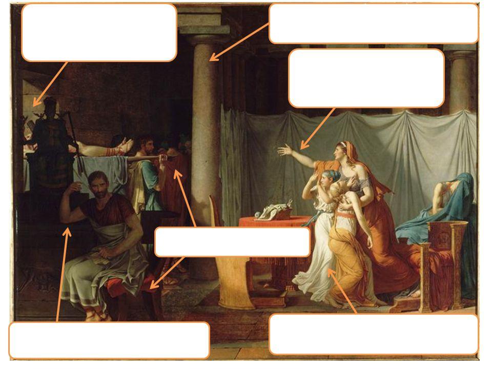 Le bras maternel conduit l'œil vers la partie gauche de la scène.