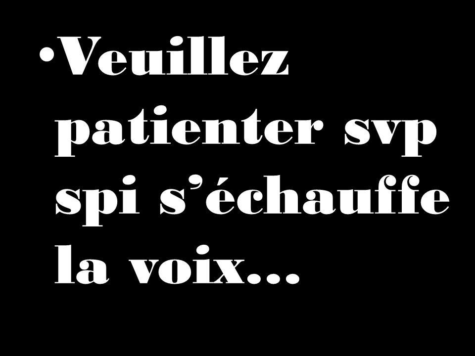 Veuillez patienter svp spi s'échauffe la voix…
