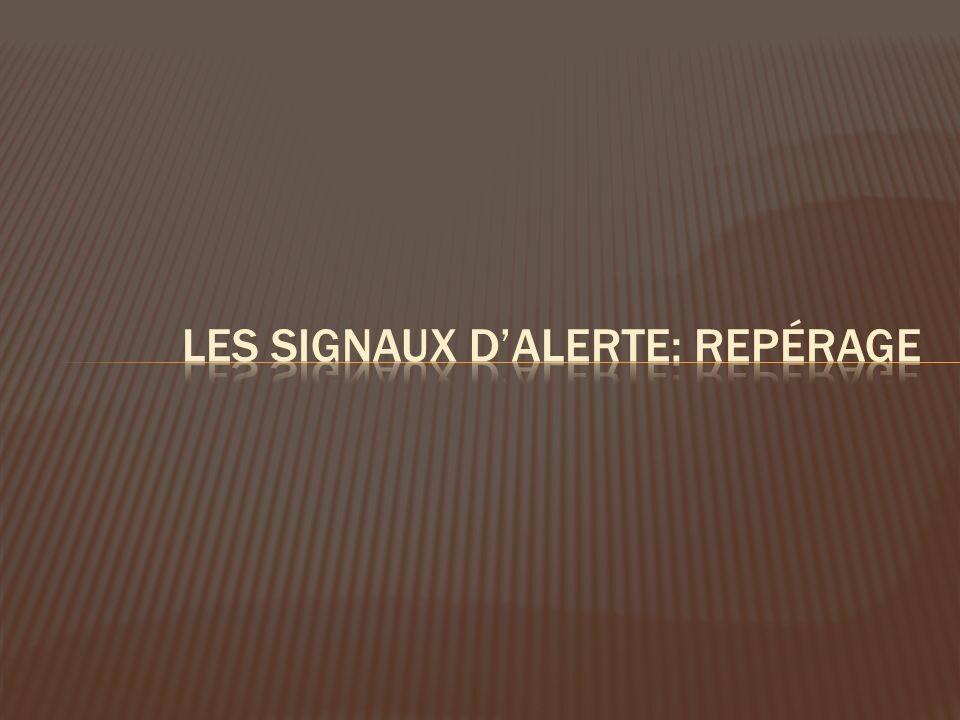 Les signaux d'alerte: repérage