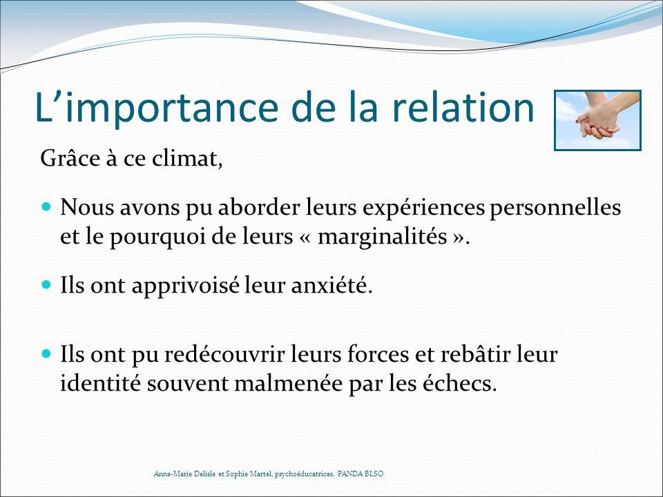 L'importance de la relation