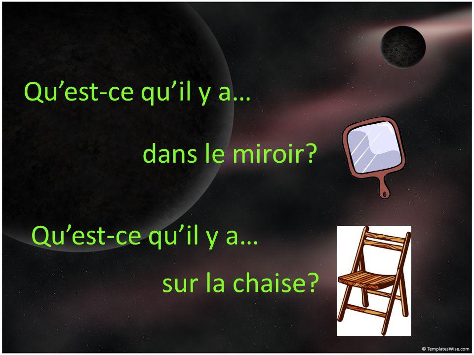 Qu'est-ce qu'il y a… dans le miroir Qu'est-ce qu'il y a… sur la chaise