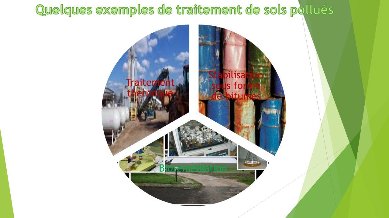 Quelques exemples de traitement de sols pollués