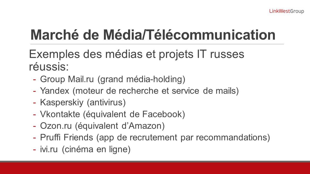 Marché de Média/Télécommunication
