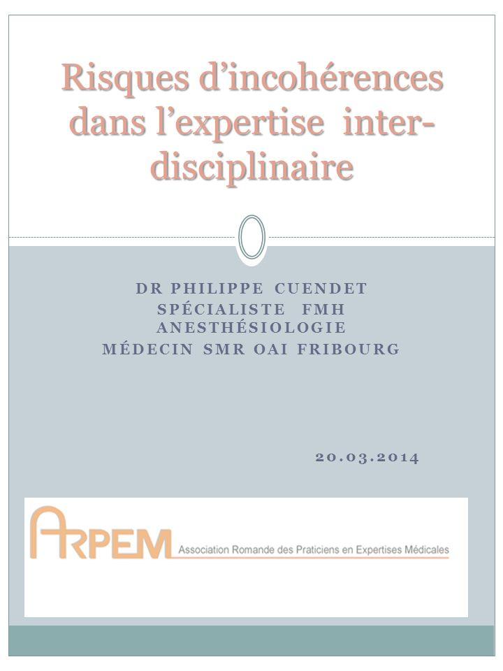 Risques d'incohérences dans l'expertise inter-disciplinaire