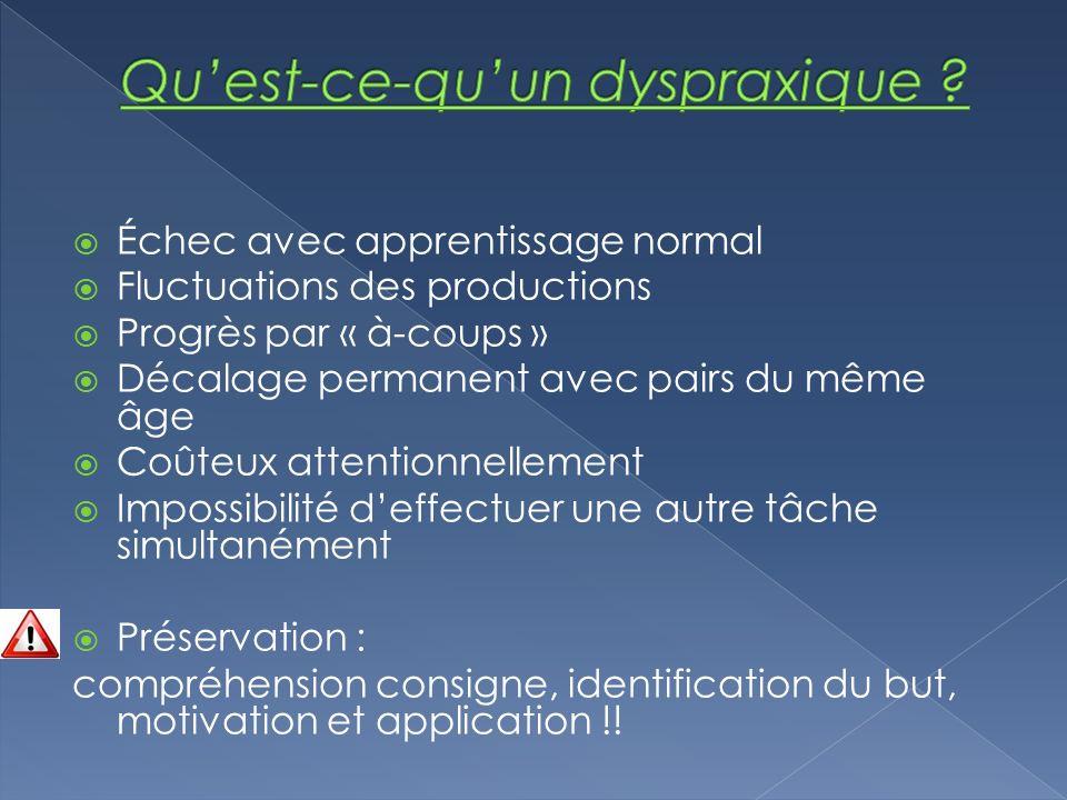Qu'est-ce-qu'un dyspraxique